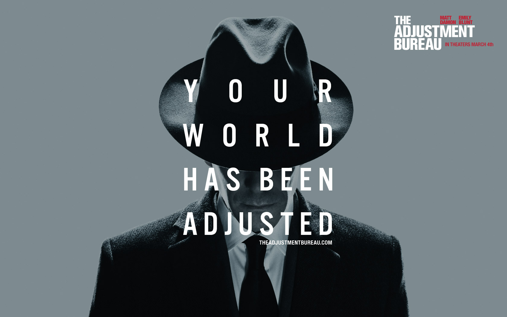 the adjustment bureau The adjustment bureau movie: trailer, clips, photos, soundtrack, news and much more.