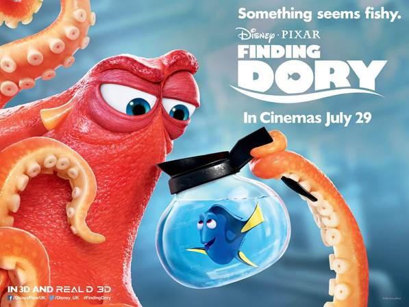 Finding Dory (***1/2) is about new beginnings and never ending
